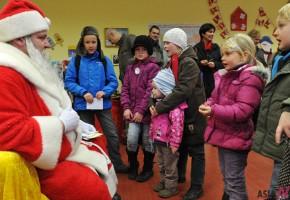 Carol with Santa Claus