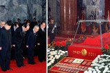 <Kim Jong-il dead> Kim Jong-un Pays Respects to His Father