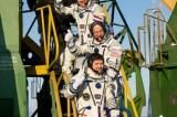 Russia Blastoff Soyuz with 3 Astronauts