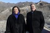 Polish President Visits 'Great Wall'