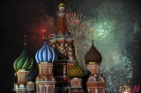 Fire Works Celebrates New Year in Russia