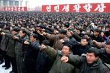 NK People Chant Slogan for Kim Jong-un