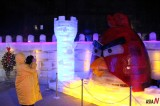 Ice Sculpture of Angry Bird in Burma