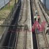 Rail Tracks Damaged by Earthquake