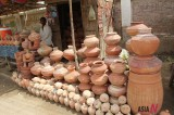 Earthenware Vendor in Pakistan