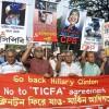 Bangladesh leftist groups opposed Hillary's visit