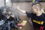 Police Under Tear Gas Attack In Ukraine