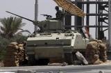 A Tank Takes Position In Sinai Where Terror Attack Occured
