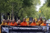 Thai Buddhist Monks Protest Against Muslim Attacks On Temples In Bangladesh