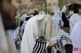 Jewish Holiday Of Sukkoth Celebrated At Western Wall In Jerusalem