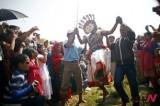 Shikali Festival Celebrated By People Of Khokana, Near Katmandu