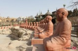 Radical Islamist destroys a Buddha statue at Japanese Garden in Cairo