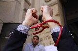 Egyptian doctors' syndicate stage anti-police rally