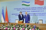 Chinese, Uzbek leaders hail inauguration of Central Asia's longest railway tunnel