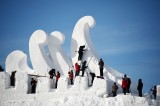 "Snow sculpture ""Love Song"" to be displayed in China"