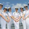Female sailors on escort mission in Gulf of Aden