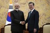 Moon, Modi seek synergy between their signature regional strategies