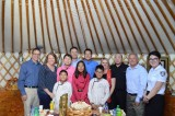 Mongolian children adopted by US families visit native home