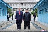 Trump makes history by briefly stepping into N. Korea in meeting with Kim