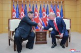 N. Korean media reports on Trump-Kim meeting at DMZ