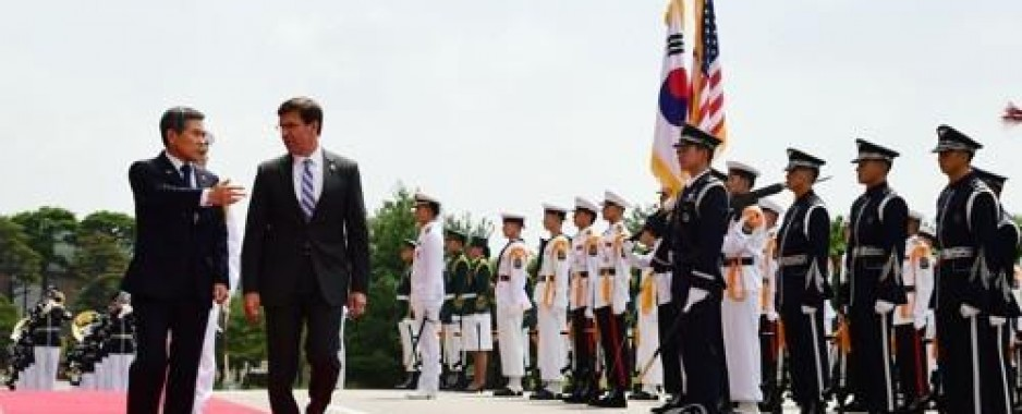 Esper raises concerns over S. Korea's decision to end intel-sharing pact with Japan