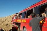 26 killed as passenger bus crashes into mountain in Pakistan