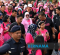 Malaysia's Queen takes part in run for breast cancer awareness campaign
