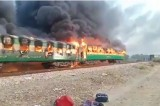 Scores killed, injured as passenger train catches fire in Pakistan