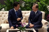Moon, Abe hold 11-minute separate 'conversation' in Bangkok