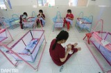 Volunteers taking care of babies born to COVID-19 mothers in Vietnam