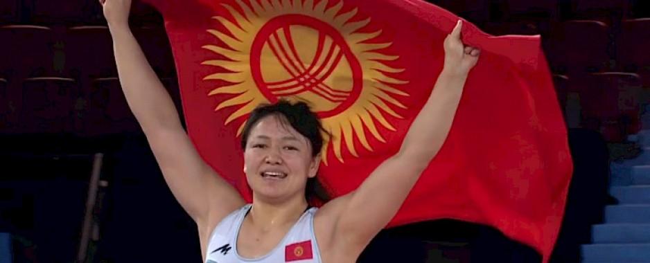 Kyrgyzstan's Meerim Zhumanazarova becomes world champion in women's wrestling