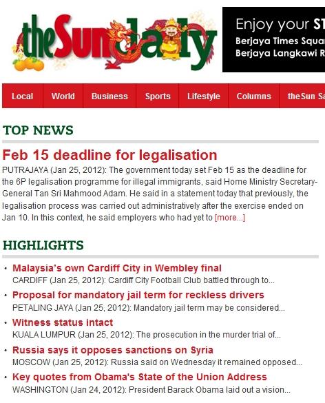 Feb 15 deadline for legalisation