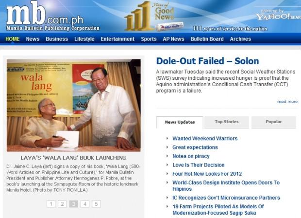 Dole-Out Failed – Solon