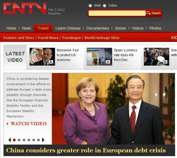 China considers greater role in European debt crisis