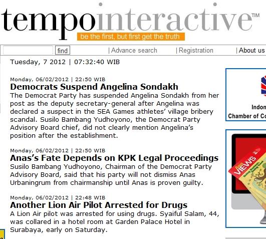 Democrats Suspend Angelina Sondakh
