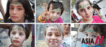 Syrian Girls Participate In Demonstration
