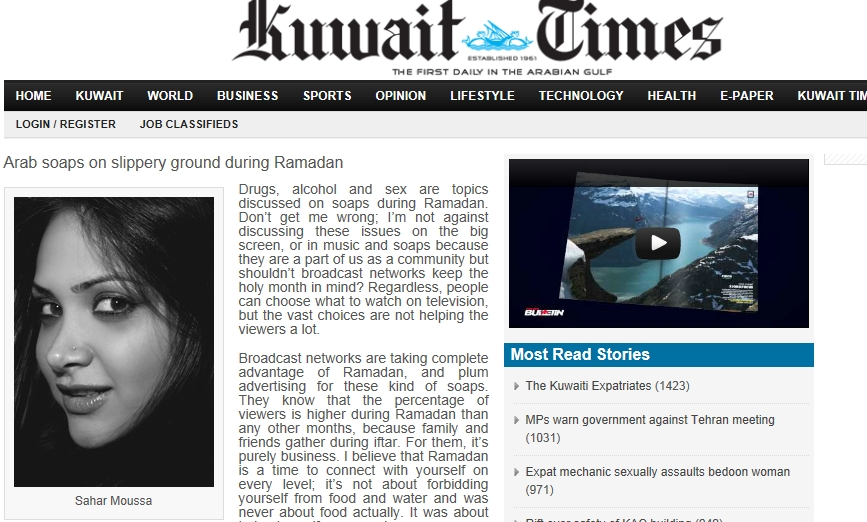 Kuwait: Arab soaps on slippery ground during Ramadan