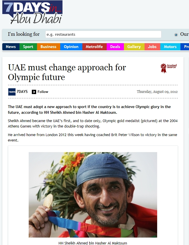 UAE: UAE must change approach for Olympic future