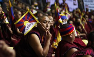 Exiled Tibetan Buddhists Attend Tibetan People's Solidarity Campaign In New Delhi