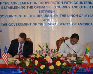 U.S. and Myanmar sign an agreement to cooperate in fighting narcotics