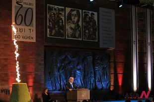 Israeli PM Benjamin Netanyahu speaks at Holocaust memorial