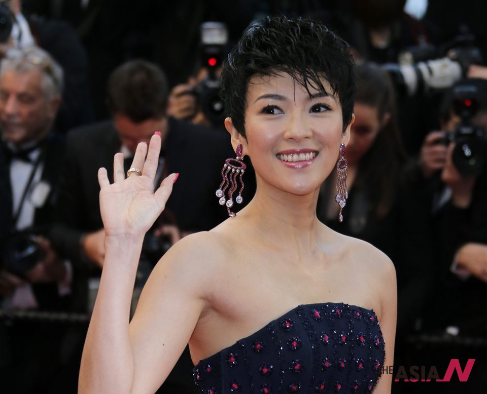 Actress Zhang Ziyi walks red carpet at 66th Cannes Film Festival
