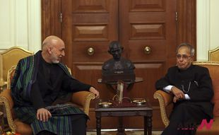 Afghan President meets Indian counterpart to seek military aid