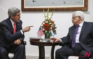 US Secretary of State Kerry meets with Palestinian President Abbas