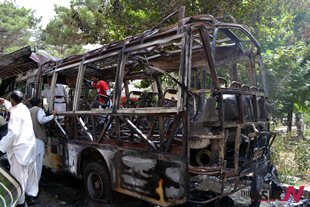 University bus attack kills 24 people in Pakistan