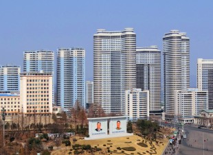 """The Socialist Paradise"" of apartments in Pyongyang. The city has been under a force of tide turning it into a city of consumption. / WIKIPEDIA PHOTO"
