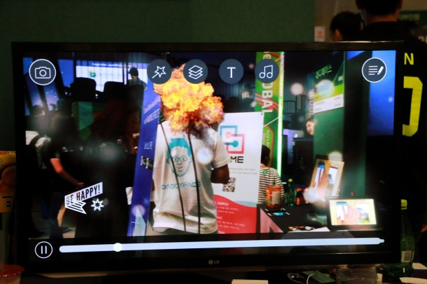 Get ALIVE app giving a demo of the vfx.