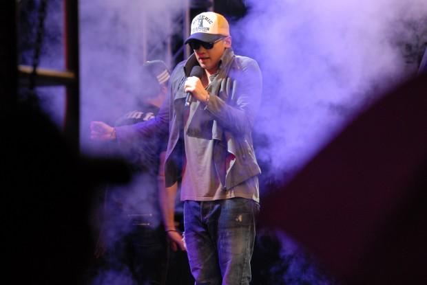 Rain performs at a K-pop concert at Kunsan Air Base in September 2012. (Wikipedia)