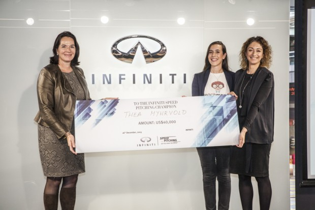 Infiniti Speed Pitching Winner, Thea Myhrvold