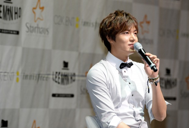 Actor Lee Min Ho in a press conference.  (bjko@newsis.com)